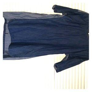 Denim two tone mini dress